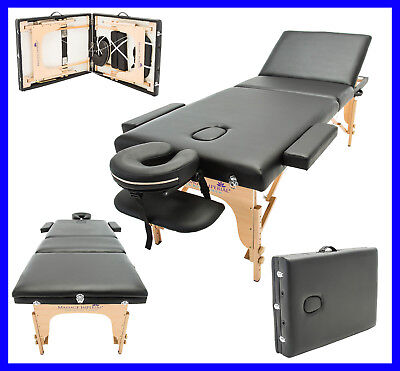 MASSAGE IMPERIAL® LIGHTWEIGHT BLACK PORTABLE MASSAGE TABLE COUCH BEAUTY (Lightweight Portable Massage Table)