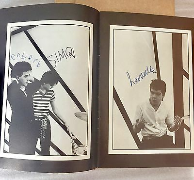 The Cure Tour Program 1981 Signed By Robert Simon Lawrence  Lp Cd Cs