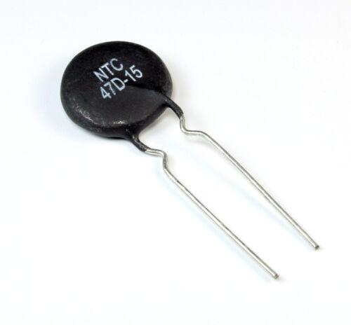 4pcs NTC 47D-15 Inrush Current Limiter Thermistor NTC  3Amp 47 Ohm  (CL-80)