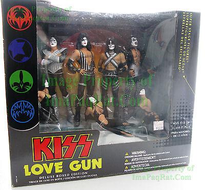 KISS LOVE GUN DELUXE BOX EDITION Super Stage Figures 2004 McFarlane Toys Diorama