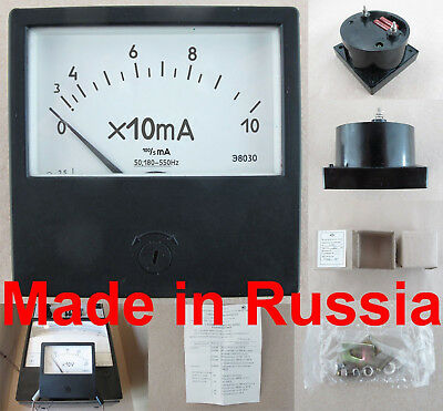 Ac 0-100ma Ammeter Russian Analog Panel Meter E8030 Current Meter Gauge 8080mm