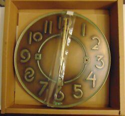 Vintage Bronze Metillac Bulova Exhibition® Typeface Clock - Frank Lloyd Wright