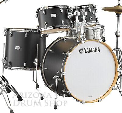 Yamaha Tour Custom Maple 4pc Drum Shell Pack, Black Licorice Satin w/22