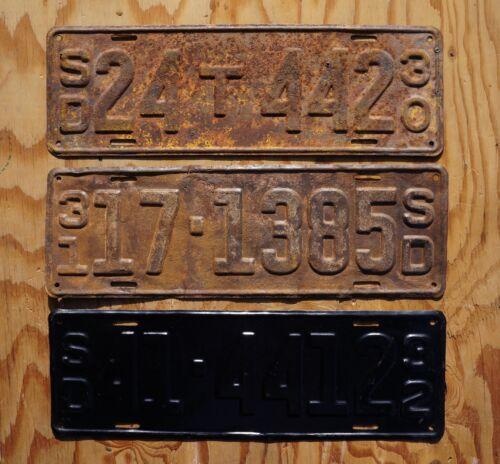1930 1931 & 1932 South Dakota License Plates - Plate LOT OF 3