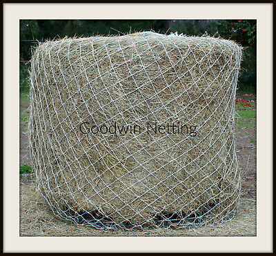 2 x LARGE STRONG HAY HAYLAGE NETS SMALL HOLES HOLDS APPROX 10 KG
