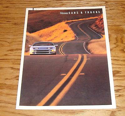 Original 1991 Nissan Car & Truck Full Line Sales Brochure 91 300 ZX 240 SX