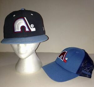 Quebec Nordiques New Era and Reebok Cap Set
