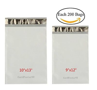 400 Each 200 9x12 10x13 Poly Mailers Shipping Envelopes Self Sealing Bags 2 Mil