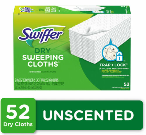 Swiffer Sweeper Dry Pad Refills, Unscented, 52 Count