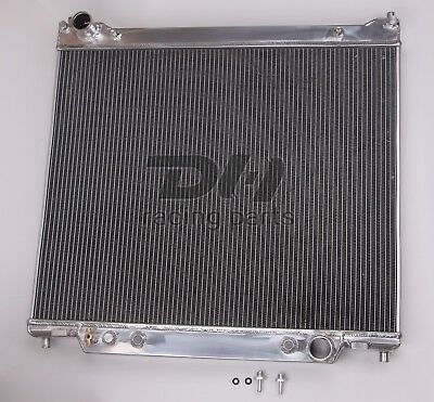 POLISHED NEW 3 Rows ALL Aluminum Radiator 1995 1997 Ford F350 73L Powerstroke