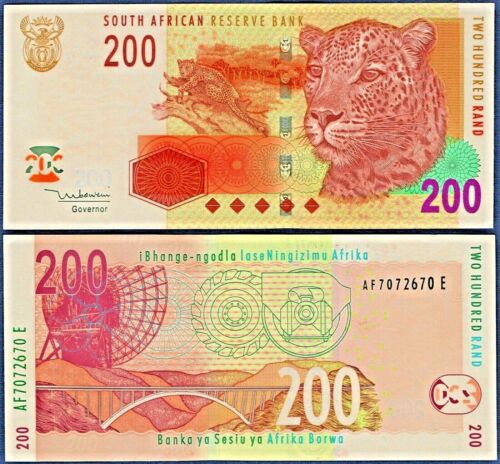 SOUTH AFRICA P132a***200 RAND***ND 2005**UNC***USA SELLER