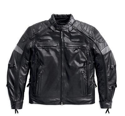 Harley Davidson Men's FXRG Triple Vent Switchback Leather Jacket 98095-15V Small