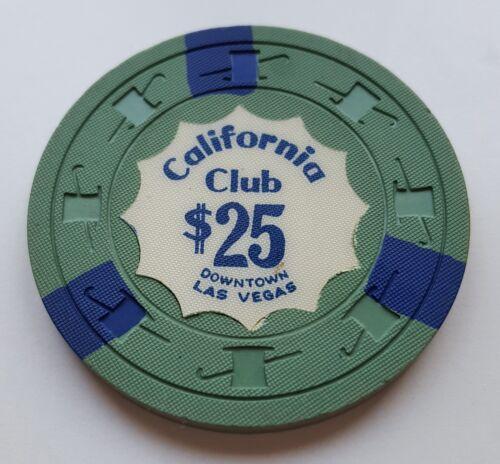 $25 Las Vegas California Club Casino Chip - Near Mint