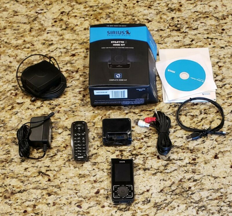 Activated Sirius Stiletto 2 SL2 XM Radio with Home kit lifetime subscription NM