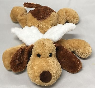 Princess Soft Toys Tan & Brown Puppy Dog Stuffed Plush Angel Wings Floppy 11""