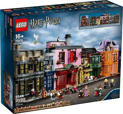 LEGO 75978, Harry Potter Diagon Alley, 5544 pcs. SEALED! In Hand, Hard to Find!