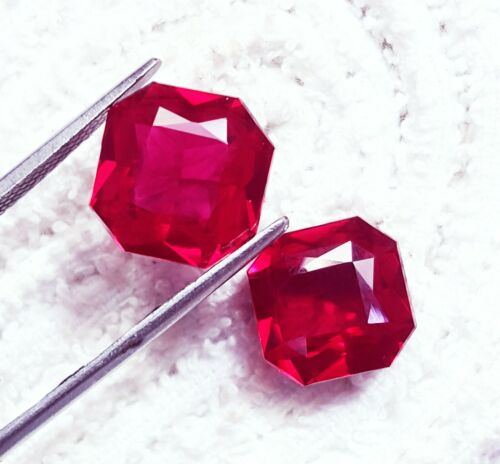 Loose Gemstone Natural Red Ruby 8 to 10 Ct Certified Pair With Free Shipping