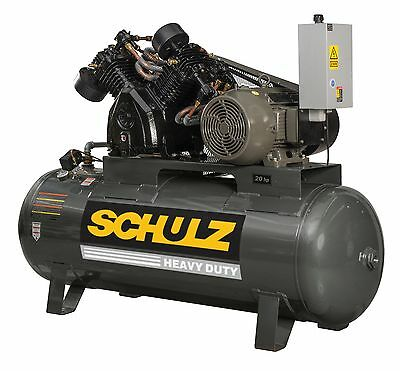 Schulz Air Compressor 20hp 3-phase 120 Gallons Tank 80 Cfm 175 Psi