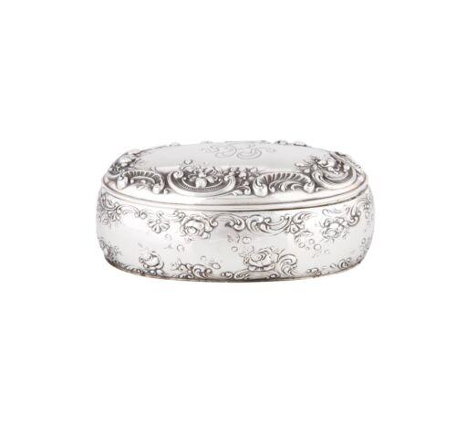 Antique Vintage Gorham Sterling Silver Oval Trinket Jewelry Box Monogram B