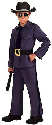 Boys State Trooper Costume Police Officer Outfit Hat Halloween Kids Child Large - Police Officer Halloween Costumes