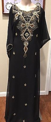 DUBAI VERY FANCY KAFTANS Abaya Jalabiya Ladies Maxi Dress Wedding  gown