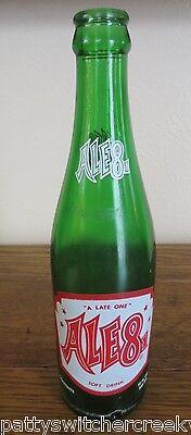 Vintage ACL Glass Soda Bottle-ALE81-