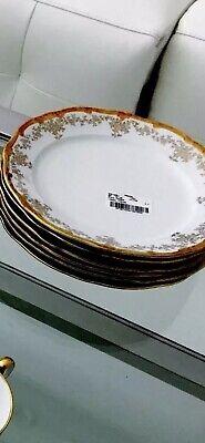 Weimar Katharina 14051 Etch Kobalt (2) Dinner Plates