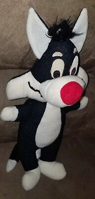 "Vintage Warner Bros 15""Mighty Star(clean shaven type)Sylvester Cat &  Plush Toy"