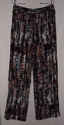 (MOSSIMO Multi Color Elastic Waistband Pants w Drawstring Size S NWOT)