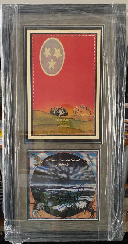 Charlie Daniels Band Signed Autographed Vinyl LP Record & Concert Poster JSA COA