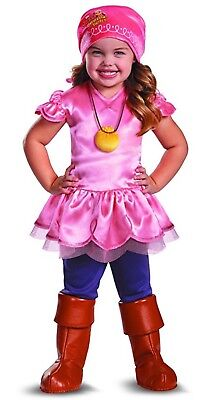 Disney Izzy Costume Toddler Girls 2T Jake Never Land Pirates S Disguise New NWT