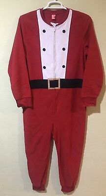 Jammies For Your Families Women Santa Claus One Piece Pajama Christmas Sz Small  (Santa Pajamas For Adults)