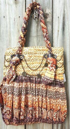 Sun N' Sand Boho Hippie Shoulder Satchel Tote Handbag Weekender Beach Bag