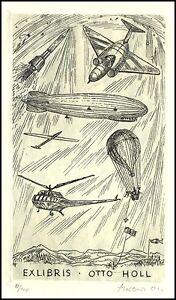 Ott Herbert C3 Exlibris 1965 Aviation Airplanes Helicopter Zeppelin Airship s951 - <span itemprop=availableAtOrFrom> Dabrowa, Polska</span> - Ott Herbert C3 Exlibris 1965 Aviation Airplanes Helicopter Zeppelin Airship s951 -  Dabrowa, Polska