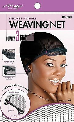 ADJUSTABLE WEAVING NET/CAP DELUXE/INVISIBLE Comfortable #2269BLK The BEST*