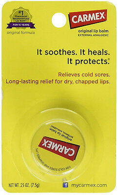Cold Moisturizing Lip Balm (CARMEX Moisturizing Lip Balm Original Soothes Heals Cold Sores Protects 0.25 oz)