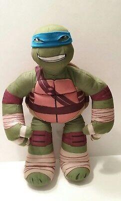 Talking Teenage Mutant Ninja Turtle Doll Plush - Blue Ninja Turtle