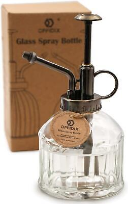 Transparent Glass Watering Spray Bottle Plant Mister w/ Pump 200ml
