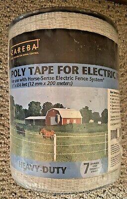 Zareba 12in 656ft 7 Strand Poly Tape Electric Fence Horse Heavy Duty Farmranch