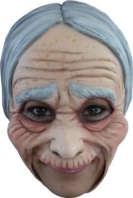 Chinless Old Lady Mask Grandma Granny Latex Halloween Costume Accessory - Halloween Mask Old Lady
