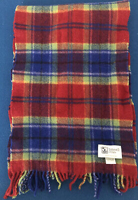 Johnstons Of Elgin Since 1797 Merino Wool & Cashmere Scarf Made In Scotland.