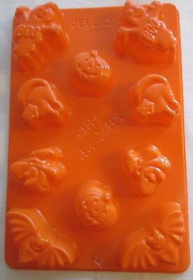Halloween Jello Jigglers mold 10 cavities Jell-o Happy Jell-oween Bat cat witch