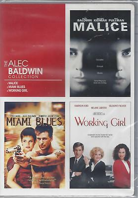 THE ALEC BALDWIN COLLECTION  Malice Miami Blues Working Girl Kidman/Ford NEW DVD