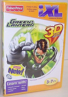 """NEW! Fisher Price IXL Learning System """"Green Lantern"""" CD-ROM {2843}, used for sale  Shipping to India"""