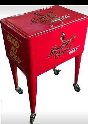Leinenkugel's Beer Cooler ice chest on wheels cans bottles patio deck new
