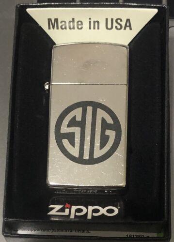 SIG Sauer Slim Zippo Lighter 1607 with gift box