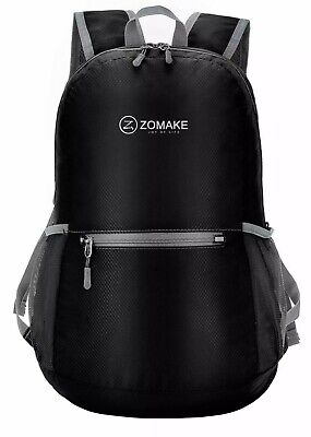 702c1ae0442c3 1ZOMAKE Black Ultra Lightweight Packable Backpack Water Resistant Hiking  Daypack