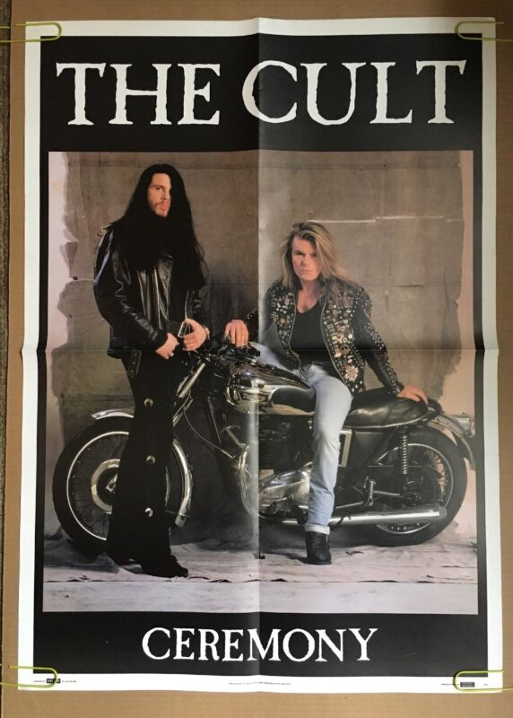 The Cult Vintage Poster Ceremony Pin-up 1990s Retro Music Promo Advertising 1991
