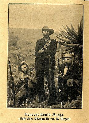 Guerillakrieg * Burenkrieg * General Louis Botha mit Ka *  Bilddokument von 1902