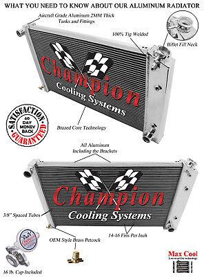4 Row All Aluminum Performance Radiator For 1968   93 ChevyGM Cars